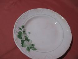 Kispesti Gránit zöld virágos tányér