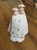 Nagy méretű Máriazelli porcelán szobor