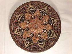 Johann Maresch ( 1821–1914 ) kerámia fali tányér fali dísz jelzett