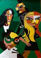 --- Pap Kornél Attila:THE BLACK EYED PEASE.80x60...----