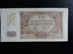 Lengyelország, német megszállás 10 Zloty 1940.