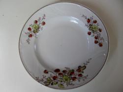 Antik eper, szamóca mintás , gyöngyös fali tányér