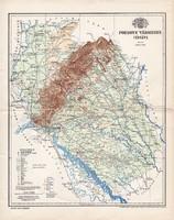 Pozsony vármegye térkép 1897 (2), lexikon melléklet, Gönczy Pál, 23 x 29 cm, megye, Posner Károly