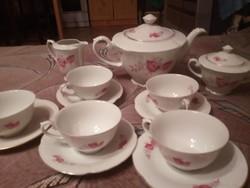 Antik Drasche porcelán teás készlet