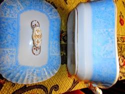Antik  fedeles tál- masszív  vastag porcelán.