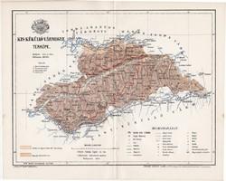 Kis Küküllő vármegye térkép 1894 (3), lexikon melléklet, Gönczy Pál, 23 x 29 cm, megye, Posner K.