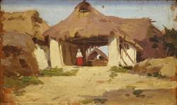 Ismeretlen 19.sz-i  festő : Fészer részlet