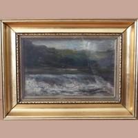Ism.tlen holland festő, 19.sz. : Zúgó az erdőben