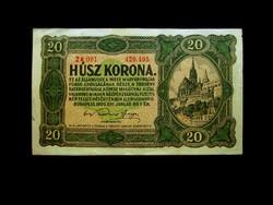 20 KORONA - PIROS SZÁMOK - KÖZTE PONT - 1920