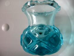 Kék kis gyertyatartó, váza