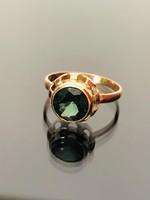 Antik arany 14karátos gyűrű valódi Turmalin drágakővel