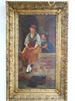 Festmény : Romantikus jelenet
