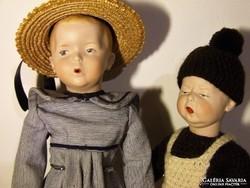 Heubach porcelán baba, babák- nem antik, jelzett művészi másolat (reprodukció)