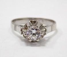 Fehér arany köves gyűrű (ZAL-Au76800)