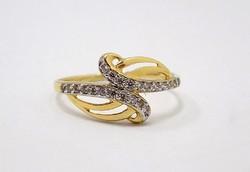 Köves sárga arany gyűrű (ZAL-Au78279)