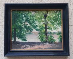 Edvi Illés Ödön (1877-1945) Vác 1939 cimü festménye