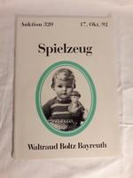 1992-es antik baba és antik játék aukciós katalógus