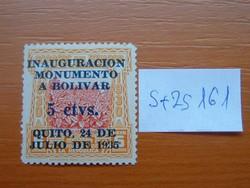 ECUADOR 5/6 C 1935-ben a Bolivar-emlékmű bemutatása  S+ZS161