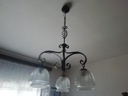 Modern kovácsoltvas 3 ágú csillár