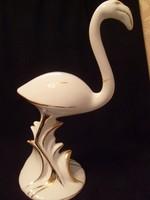 Ritka porcelán flamingó aranyozott 31 cm-es ritkaság