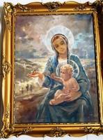 Péczely Antal -Mária kisdeddel-