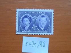 KANADA 4 CENT 1951-es királyi látogatás  S+ZS178