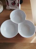 3 részes porcelán kínáló, asztalközép