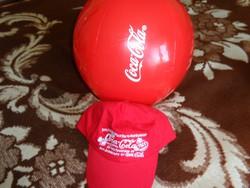 Coca-Cola termékek  Labda,és sapka  ÚJ!