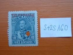 "ECUADOR 10 C 1892. J. J. Flores - 1892-es bélyegek  ""TELEGRAFOS"" felülnyo  S+ZS160"