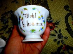Biedermeier teás csésze -kézi festéssel