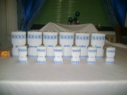 Retro porcelán fűszertartó készlet - tizenkét részes