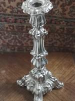 Antik ezüst Pest Cseh Pál biedermeier 1856 gyertyatartó