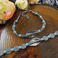 Tibeti ezüst Jade gyöngyös karkötő 3 színben