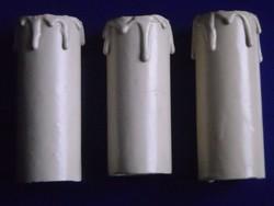 3 db antik gyertyaizzó burkolat