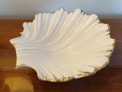 Kagyló alakú kerámia tál dísztál