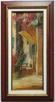 """Adilov Alim """"Pihenőhely"""" című olajfestmény szép keretben ingyenes házhoz szállítással"""