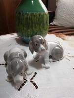 Porcelán Kutyusok Párban
