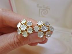 Szépséges 3ct valódi gyémántköves ezüstfülbevaló Akció!!!