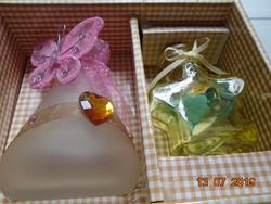 Dekoratív díszített színes üvegek kislányoknak