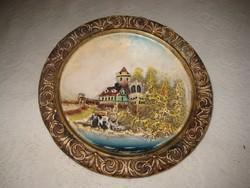 Kerámia fali tányér  18 cm  ,sorszámozott  ,valószínű, Johan Maresch