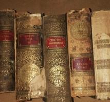 5 db Pallas lexikon pótlásnak ,restaurálásra. Külseje ,kötése rossz állapotú