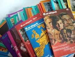 33 darab 'A mi világunk' Brigádok Kiskönyvtára sorozat, 1978-1981
