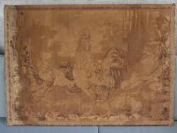 Antik francia gobelin, falikárpit