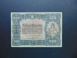 10000 korona 1920 C 08 Nagy méretű bankjegy