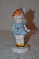 Kék ruhás katicás kislány 02  ( DBZ 0072 )