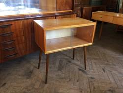 Retro régi kis szekrény mid century vitrin komód Tv állvány