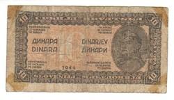 10 dinár 1944 Jugoszlávia