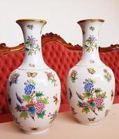 Óriási 50cm Herendi Viktória mintás váza párban
