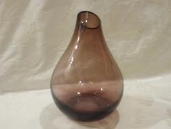 Jelzett üveg váza 18.cm