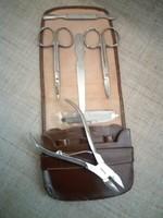 Régi manikűr készlet Jelzett Solingen ollóval körömcsípővel